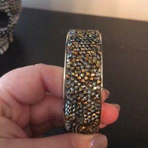 Limited Gold/Gray crystal hinge bracelet